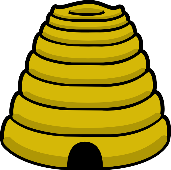 honeycomb clipart tree drawing