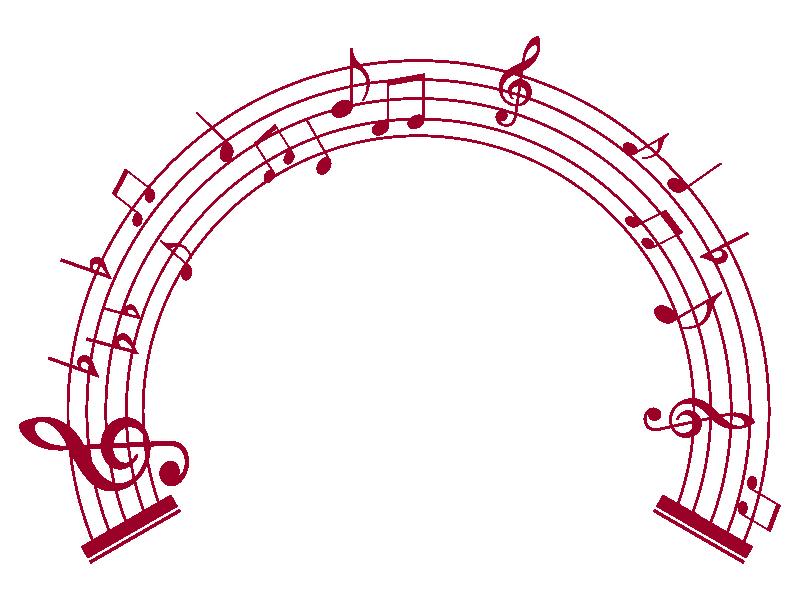 Music clipart wreath. Notes clip art png