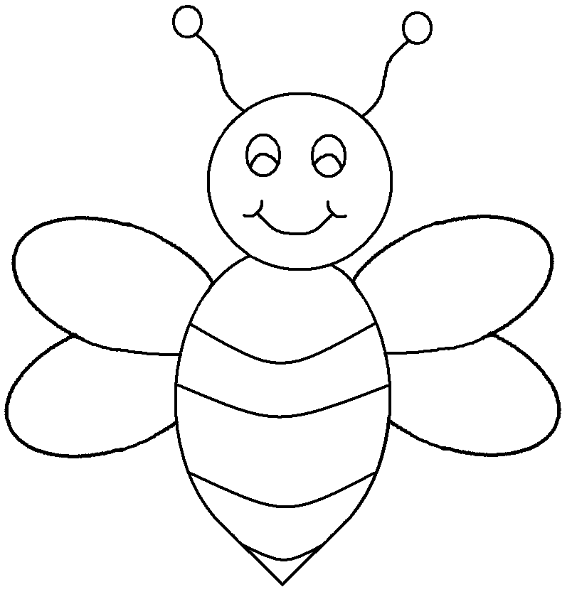 Clipart bee pencil. Bees black background and