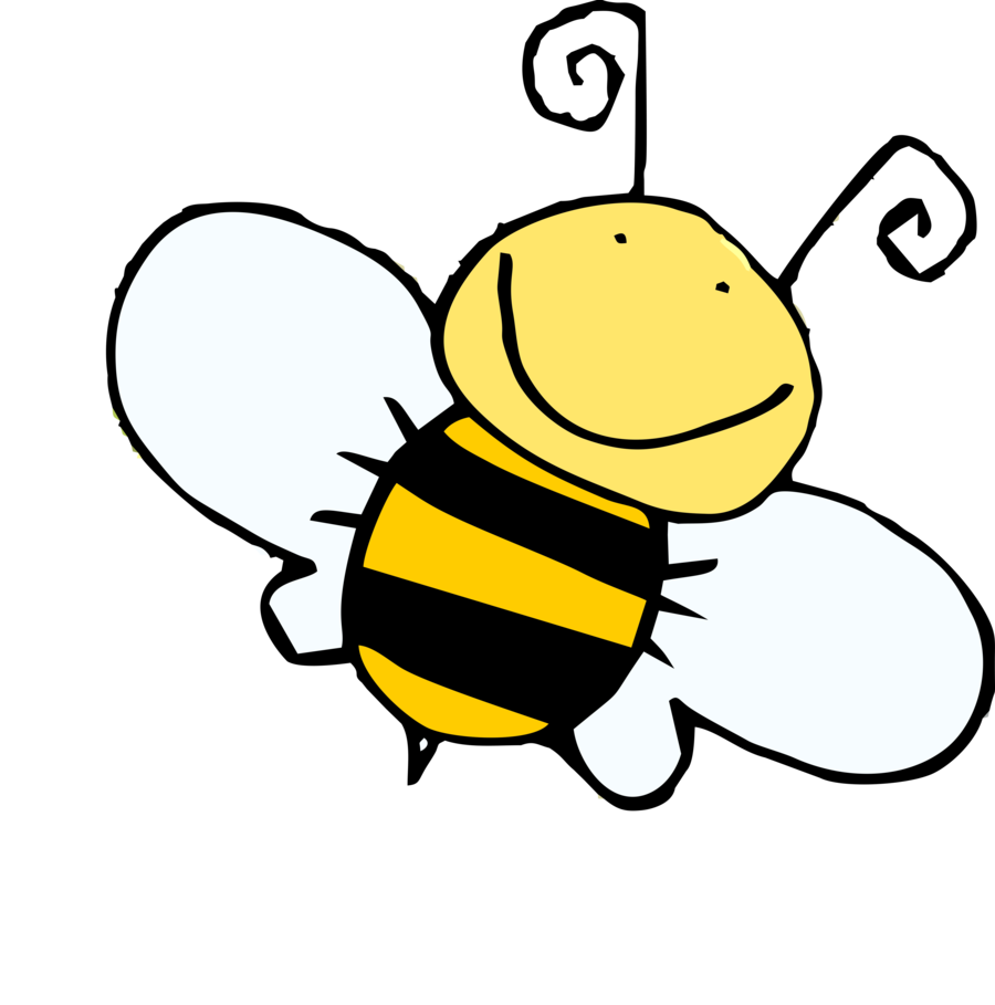 Kid clipart bee. Drawing cartoon at getdrawings