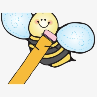 Clipart bee pencil. With free