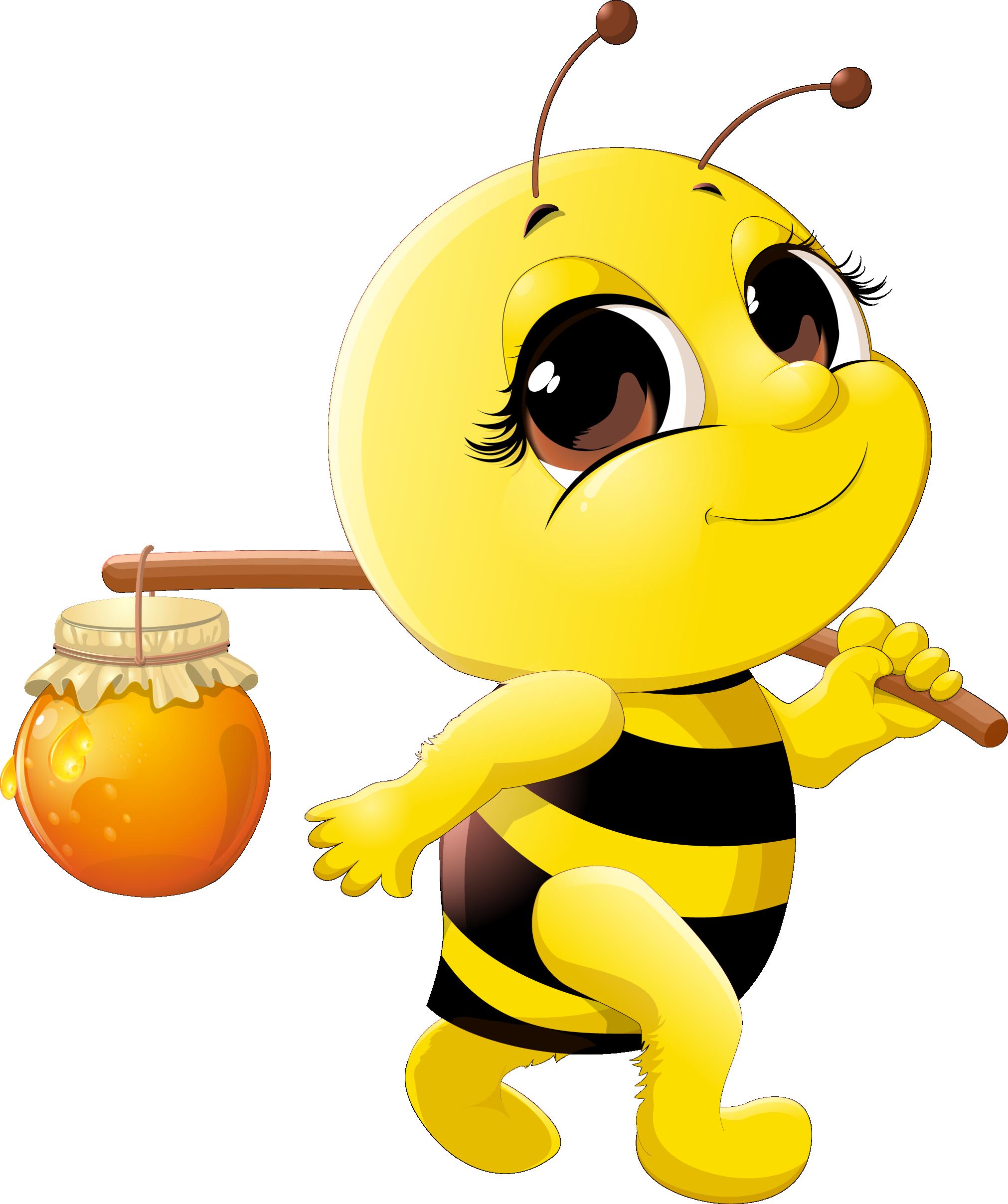 Honey clipart animal home. Bee cartoon clip art
