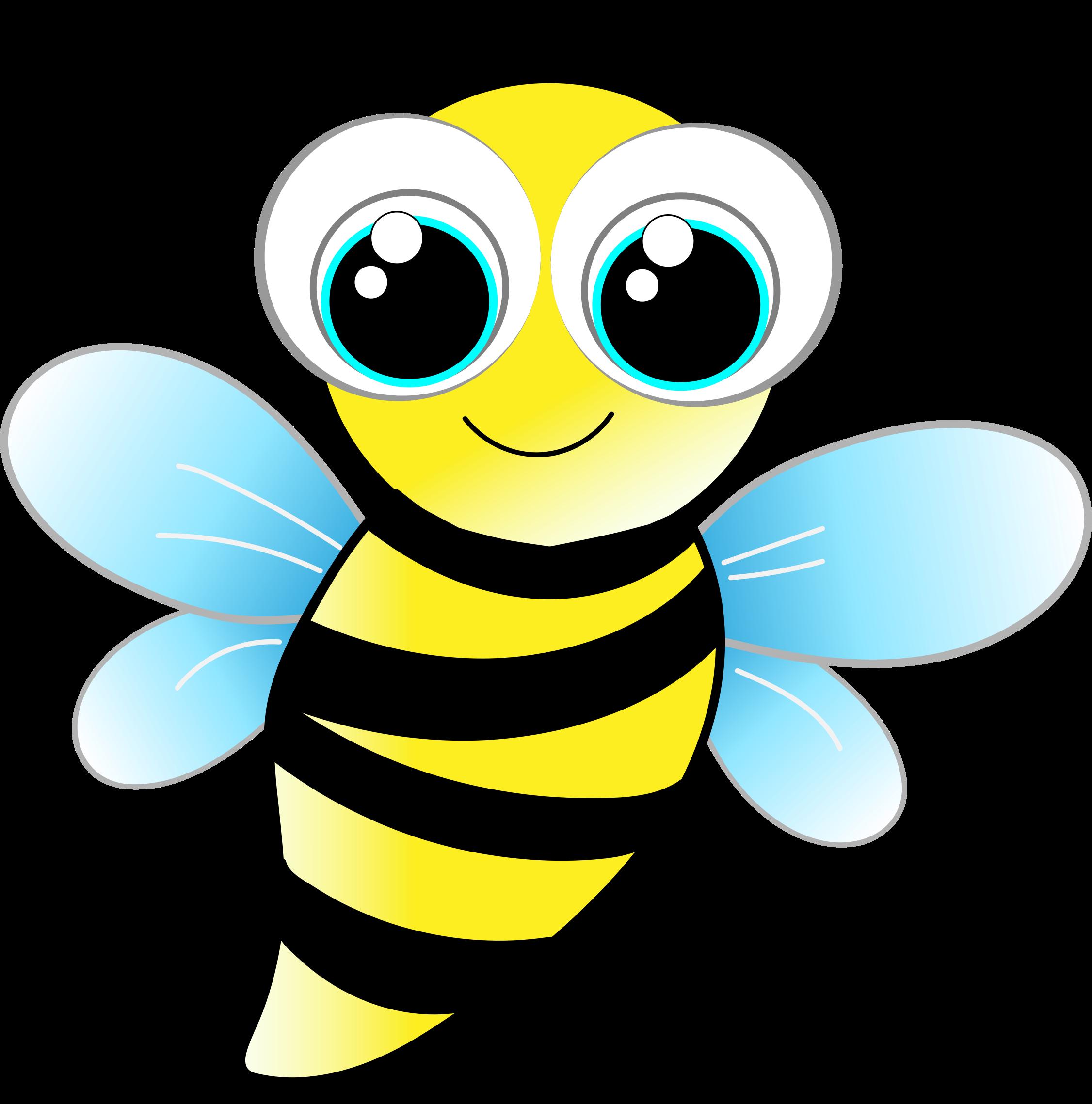 Friendly bee by gdj. Inchworm clipart caterpillar baby