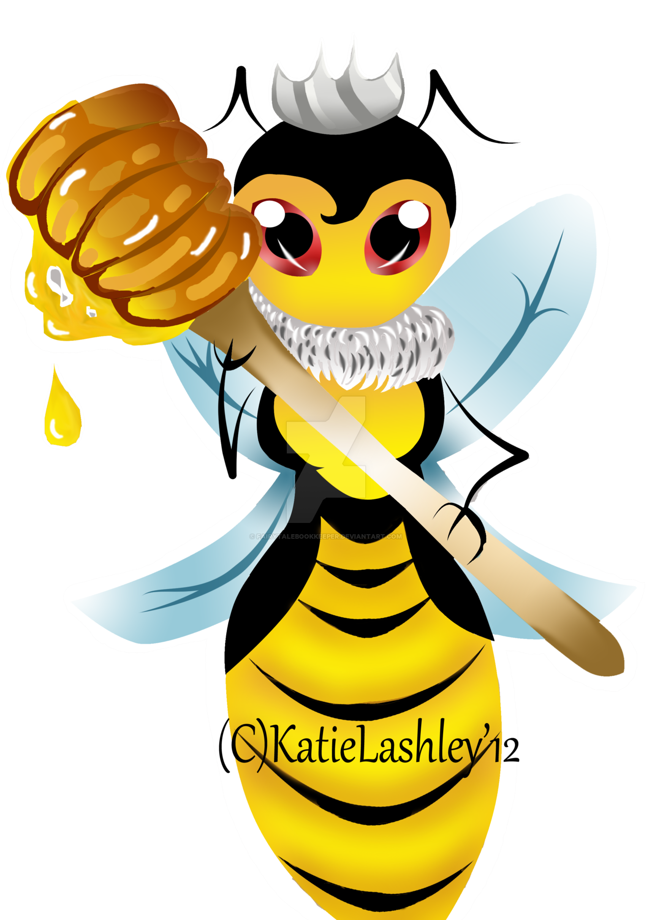 Clipart bee queen bee. Sticker by katlasillustrations on