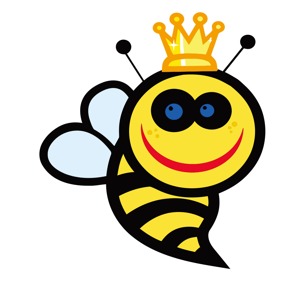 Cartoon clip art painted. Clipart bee queen bee