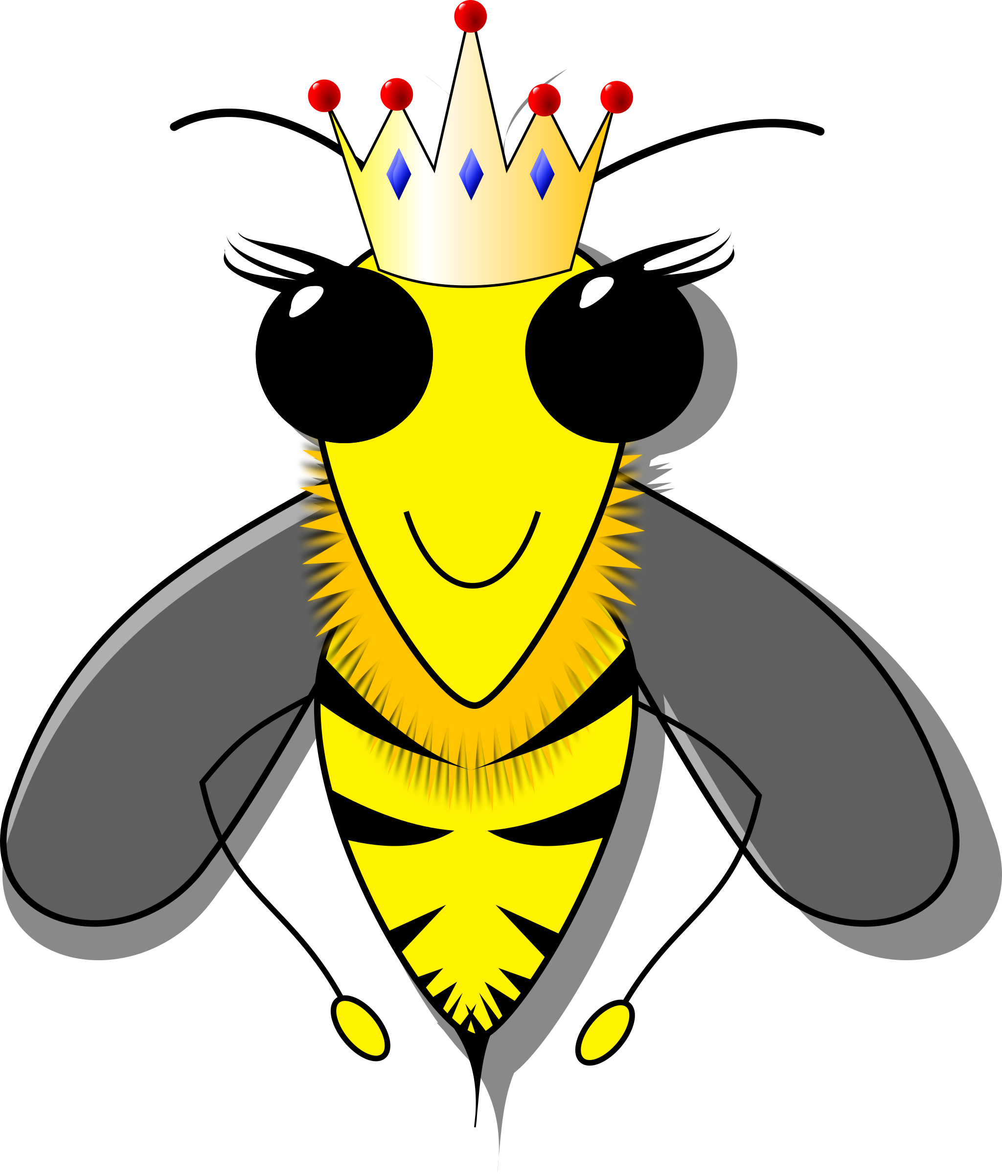 Bee big image png. Queen clipart honeybee