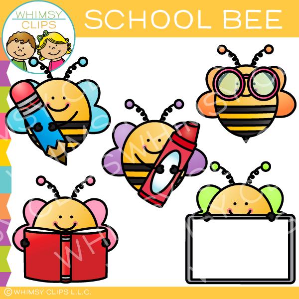 Clipart bee school. Free clip art images