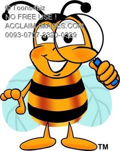 Illustration cartoon bumble or. Clipart bee science