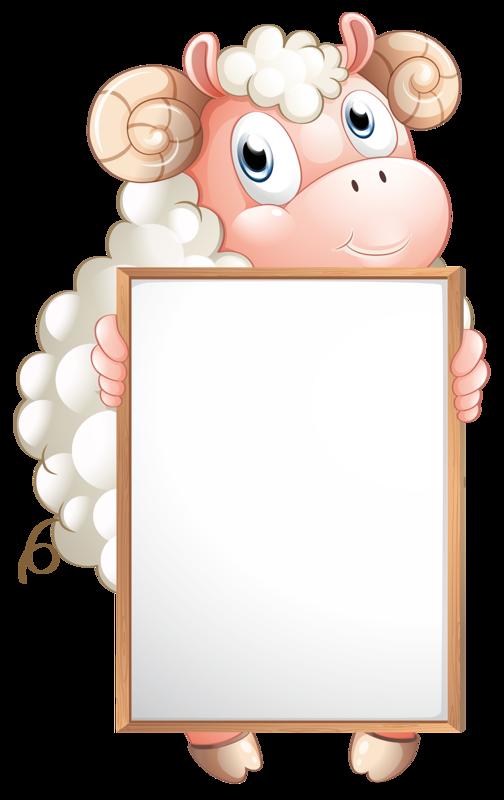 sheep clipart frame #142399017