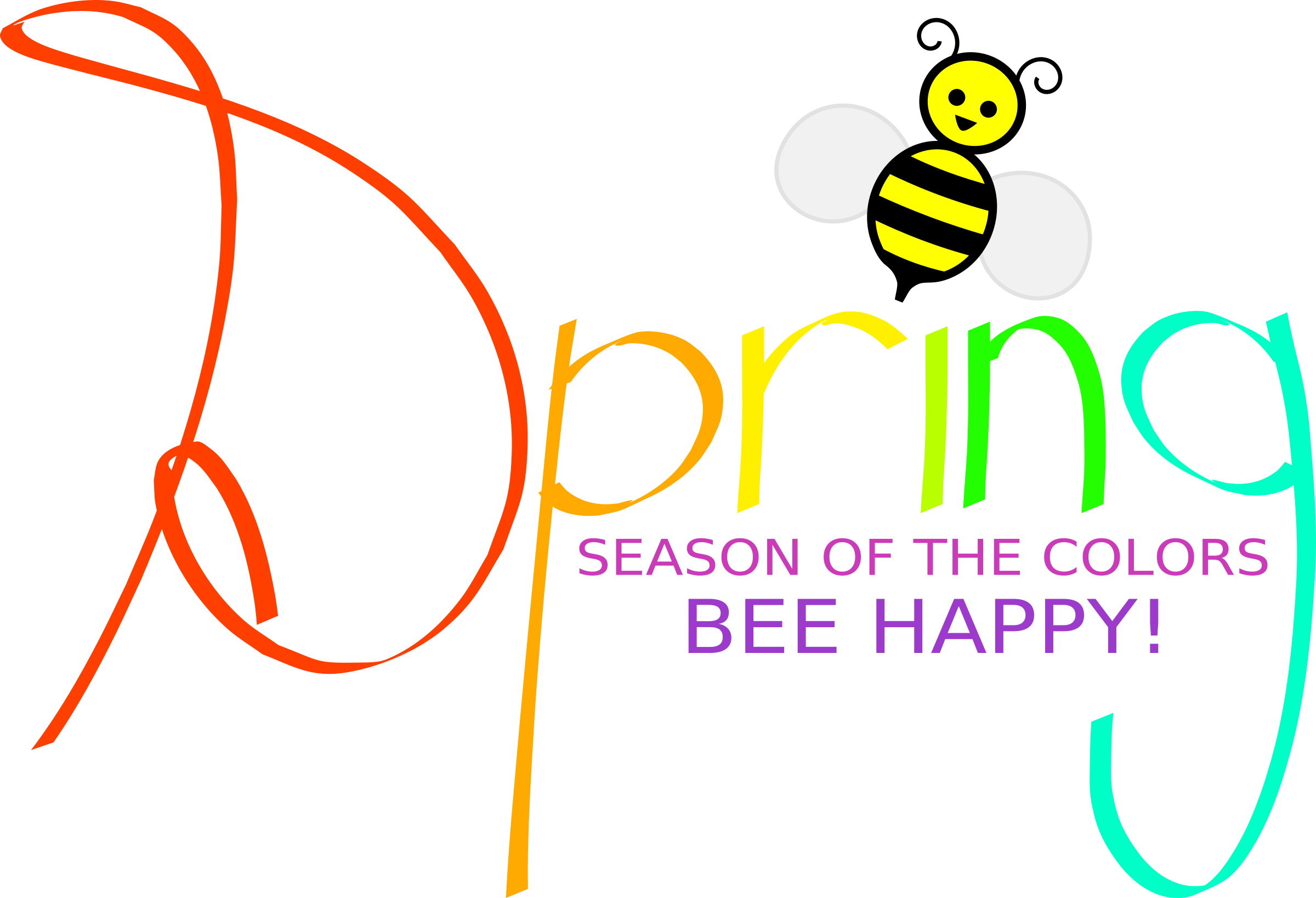 Picture clipart spring. With bee big image