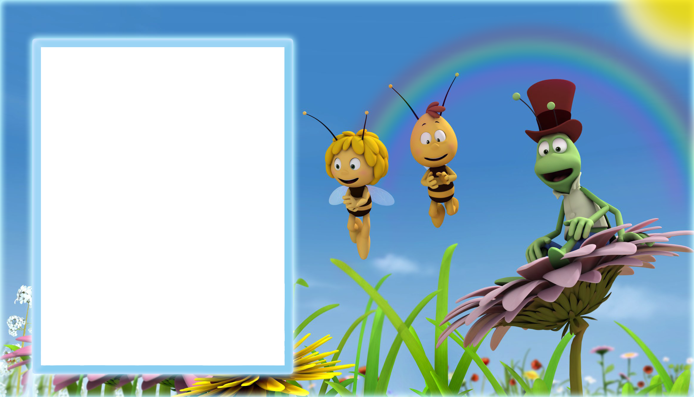 Maya the transparent kids. Frames clipart bee