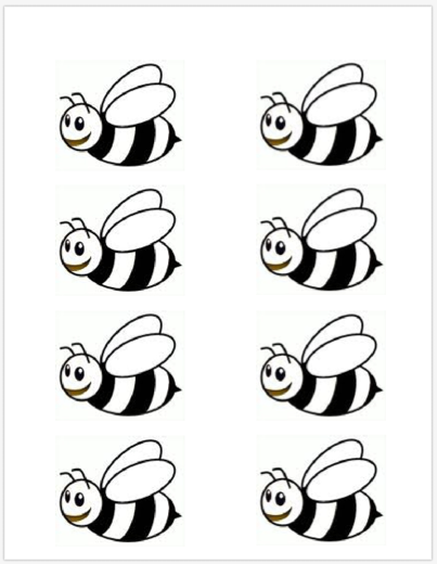 Pin by kathi blai. Clipart bee template