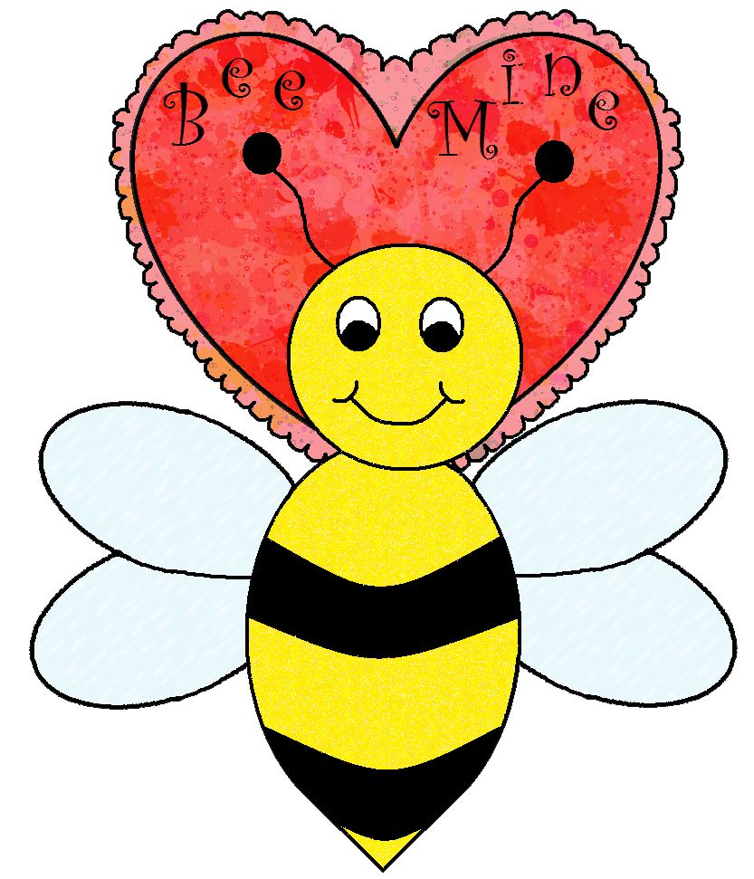 clipart bee valentines day
