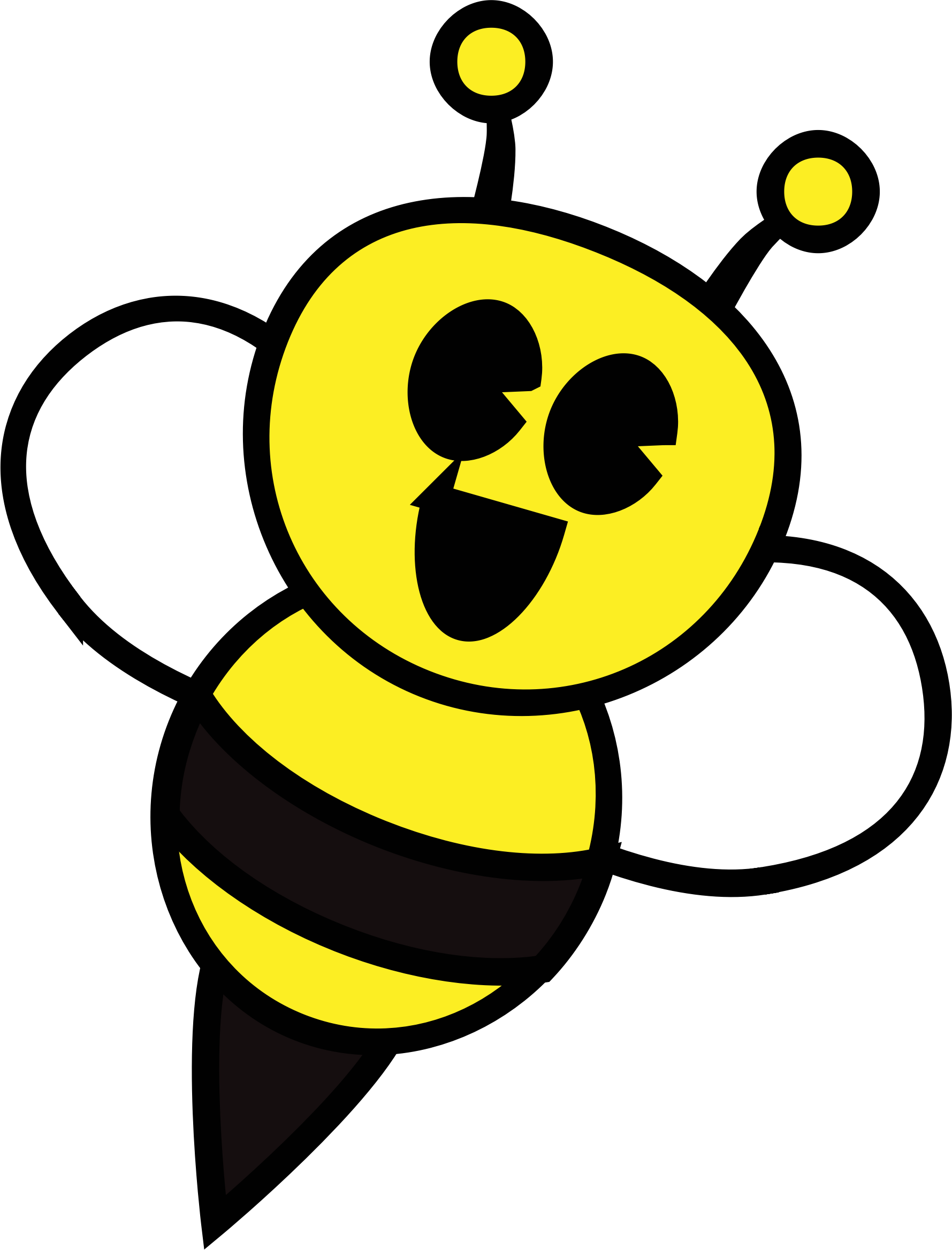 Criminal clipart happy. Bee big image png