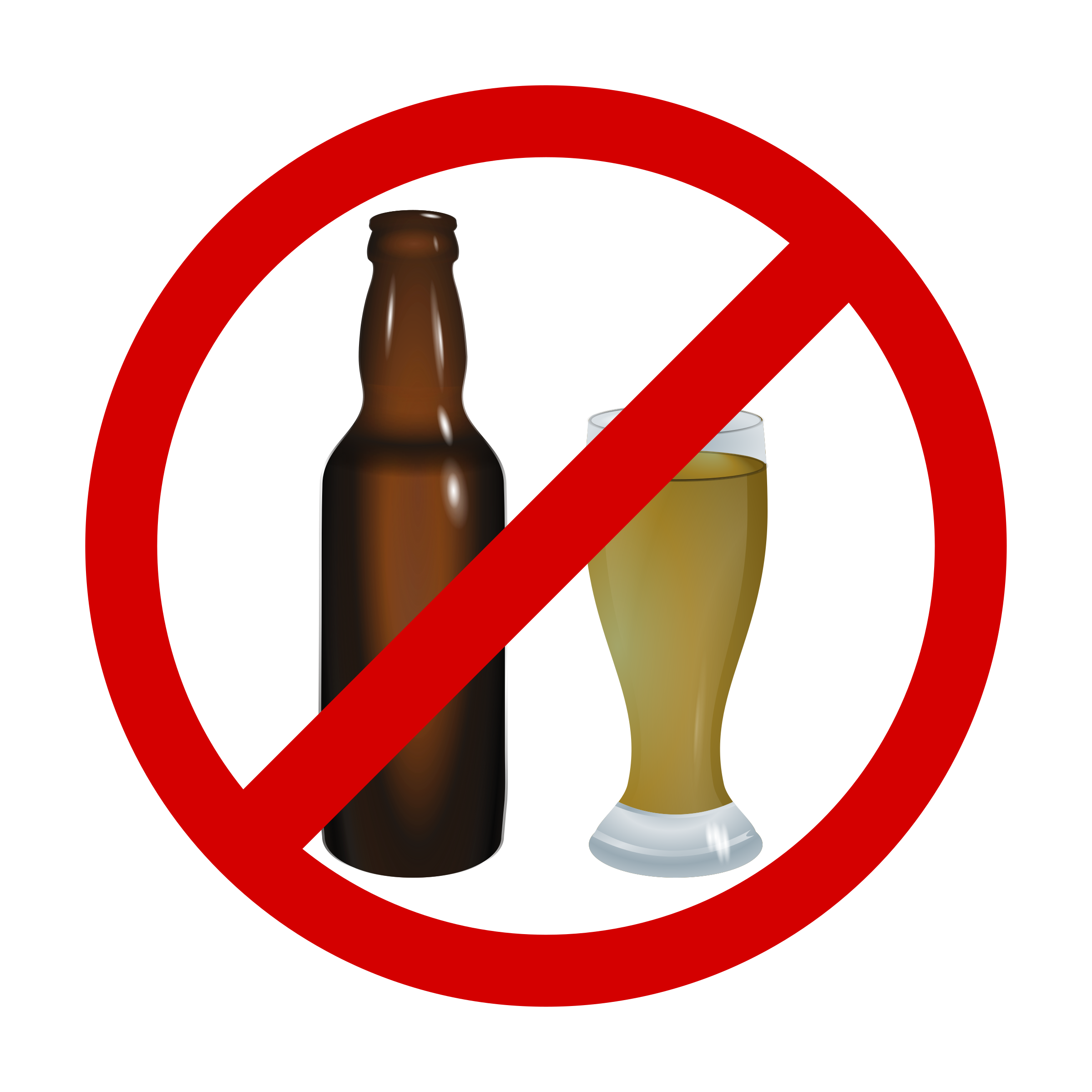 Clipart beer alcahol. Dont drink alcohol big
