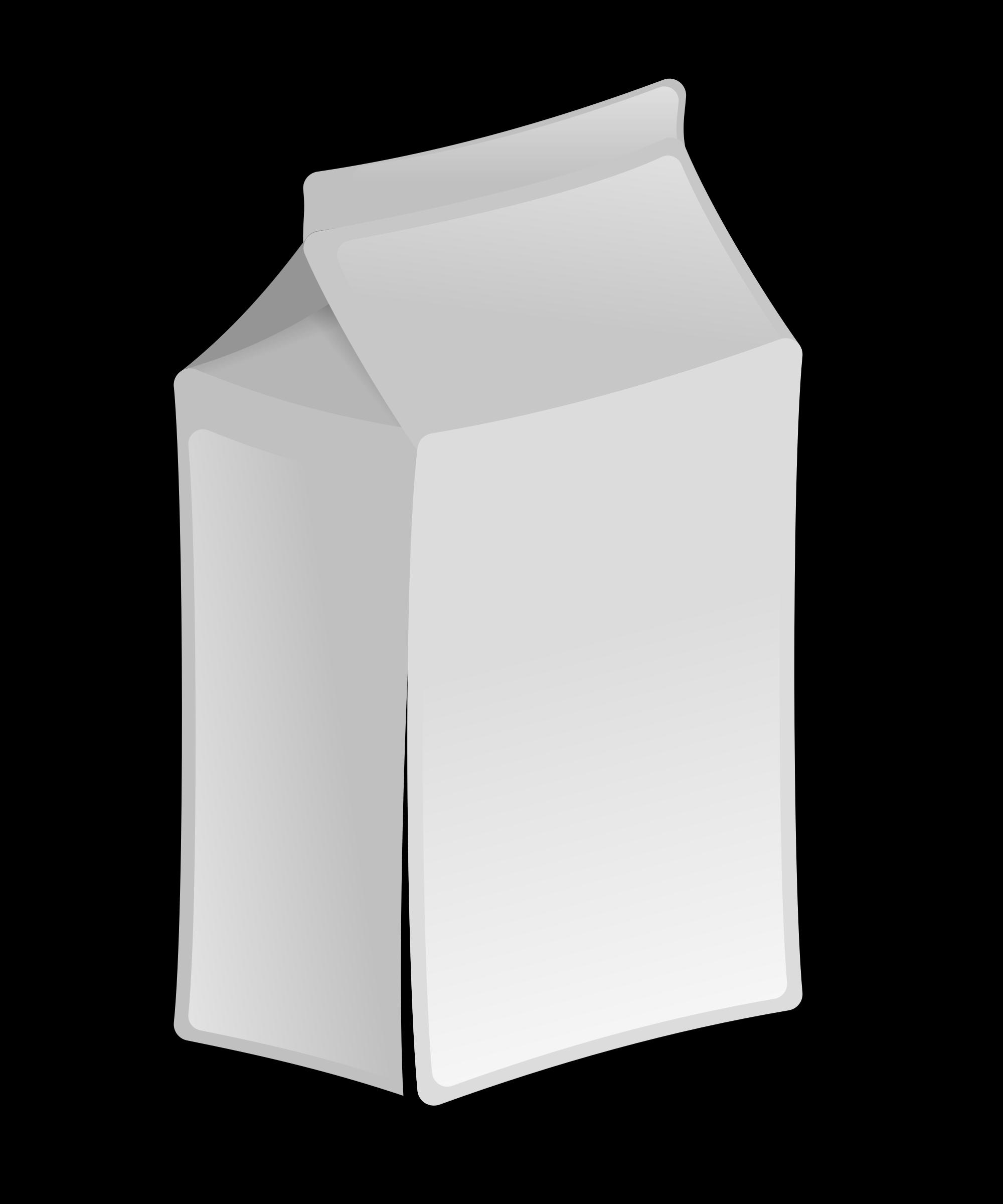 milk clipart white box