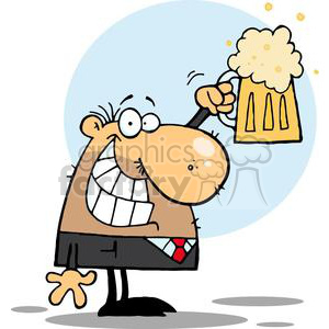 Clipart beer beer man. A celebrating with pint