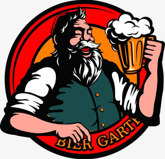 The old drinks illustrations. Clipart beer beer man