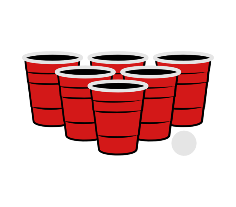 Drinking clipart vector. Beer pong champion party