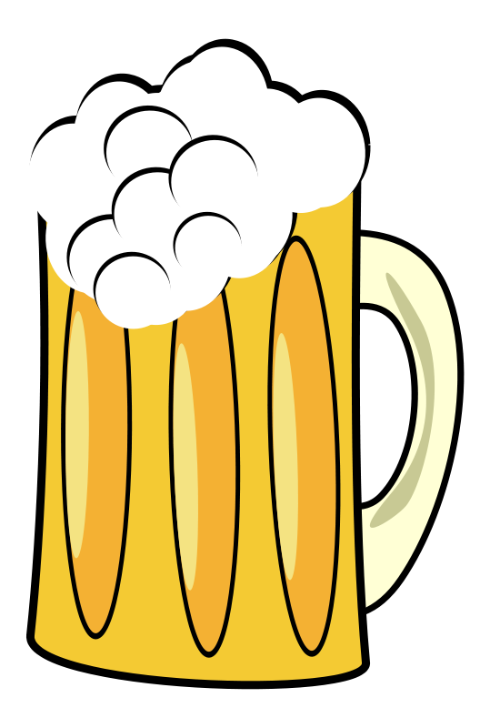 Cup clipart beer. Free stock photo illustration