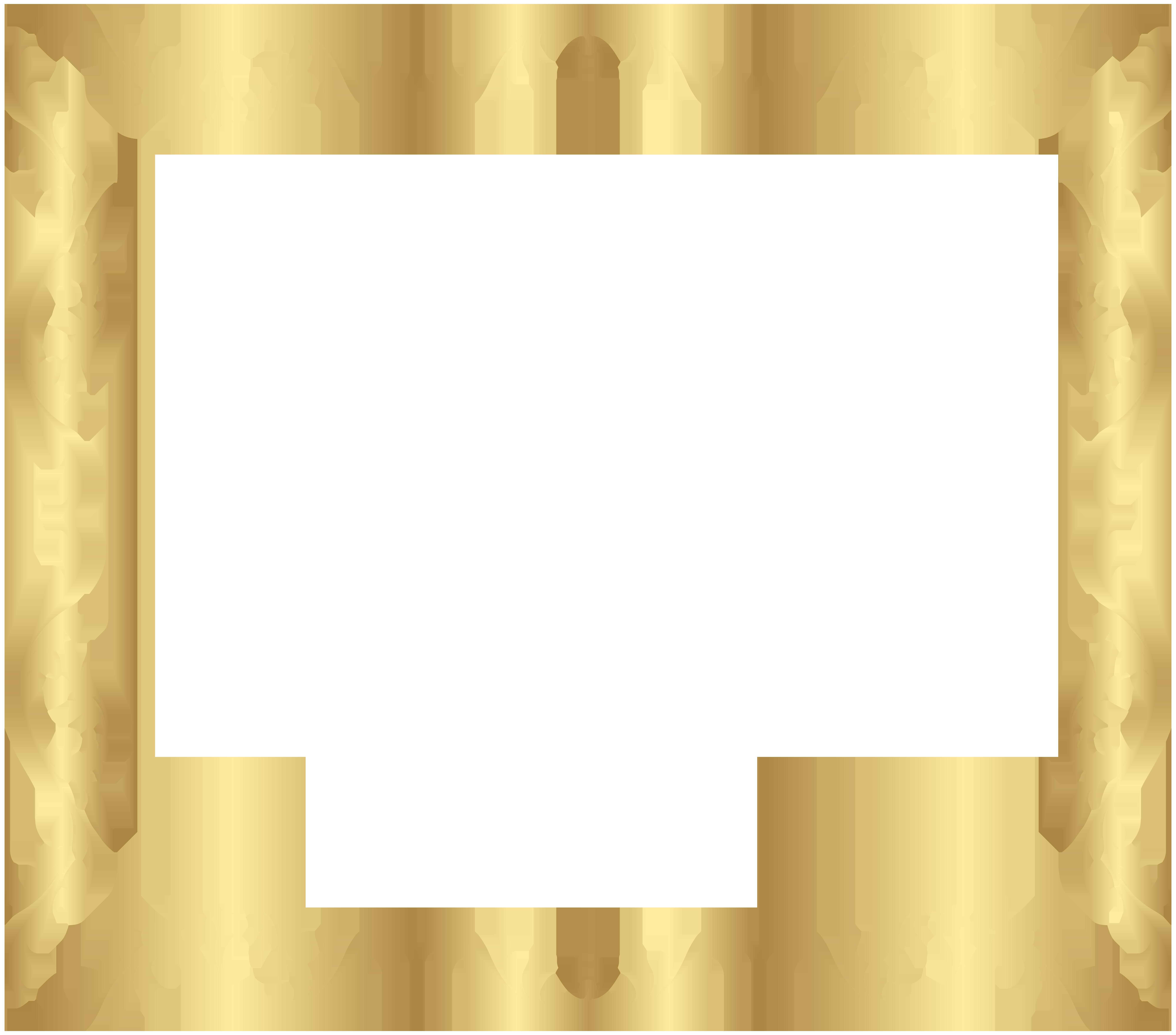 Frame gold transparent clip. Watermelon clipart border