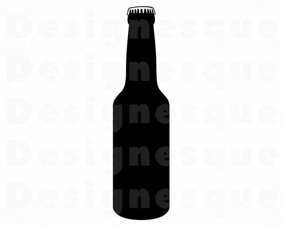 Clipart beer bottel. Bottle svg files for