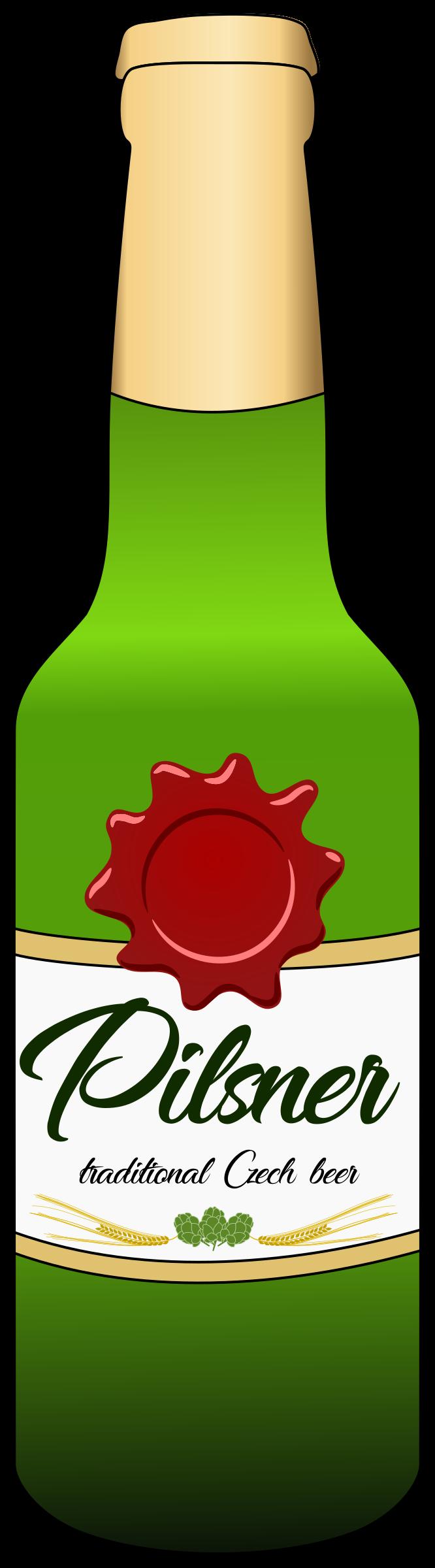 Clipart beer bottel. Pilsner bottle big image