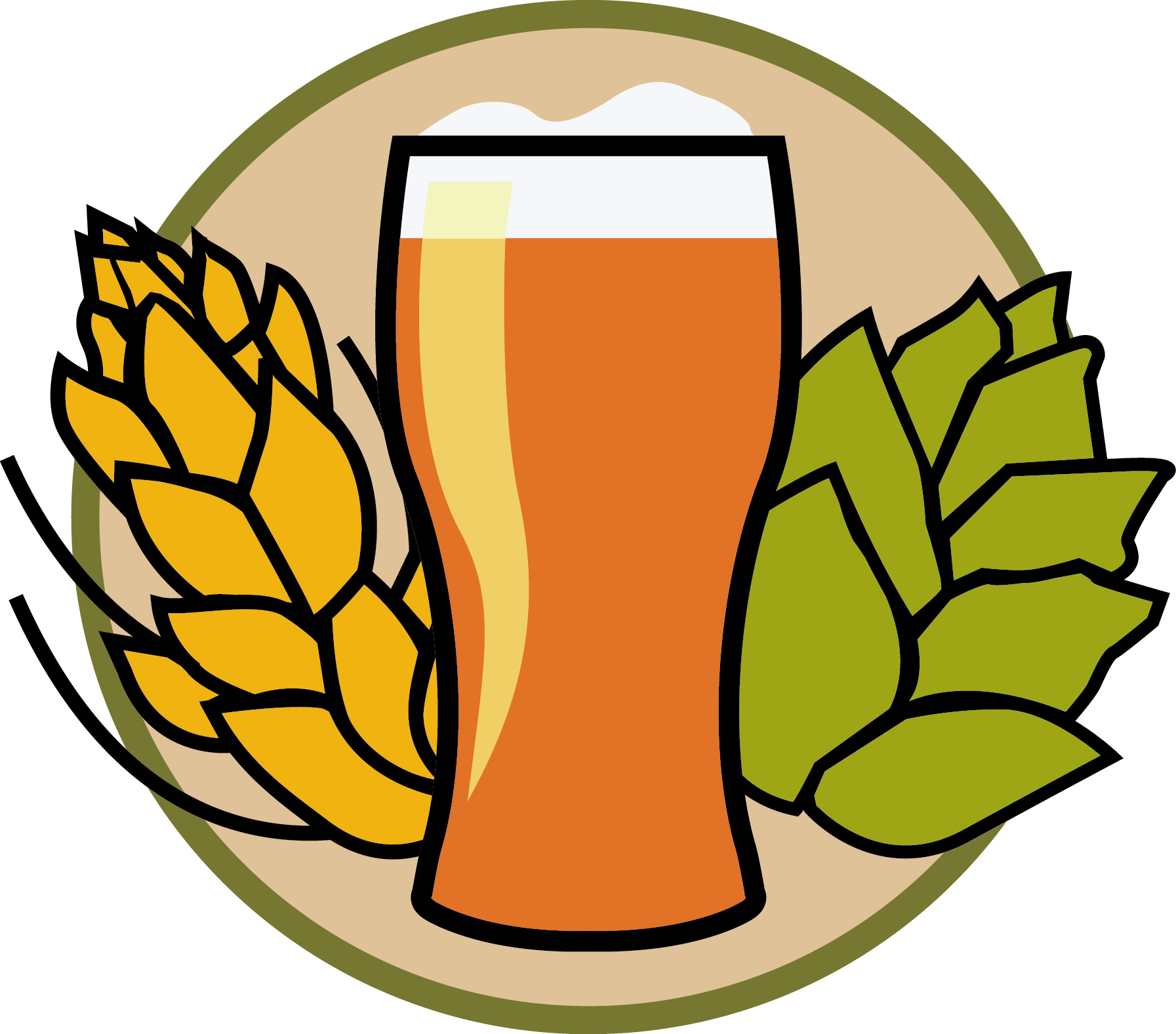 Hops clipart beer logo. Home oregon and brewing
