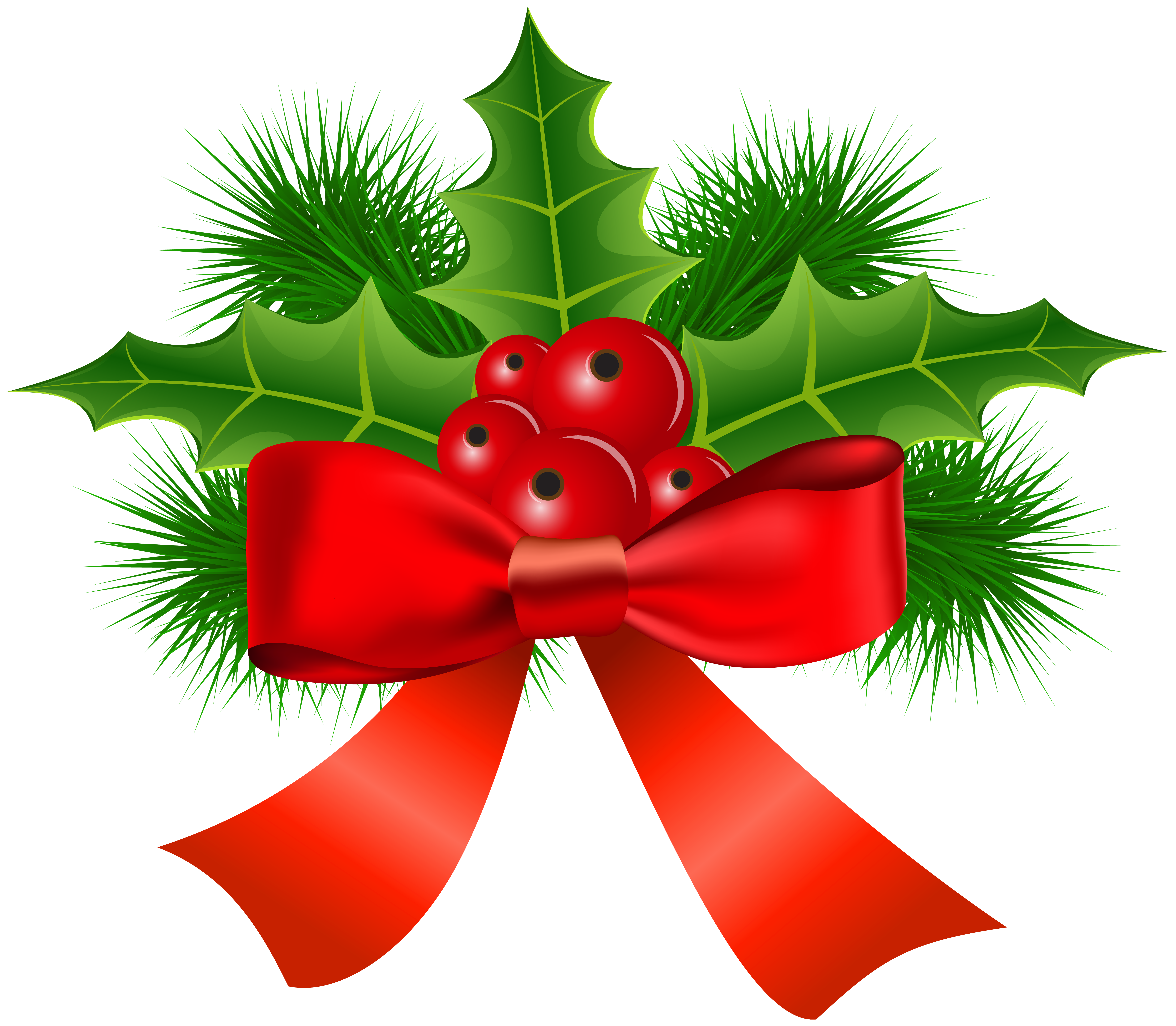 Clipart christmas holly. Transparent png clip art