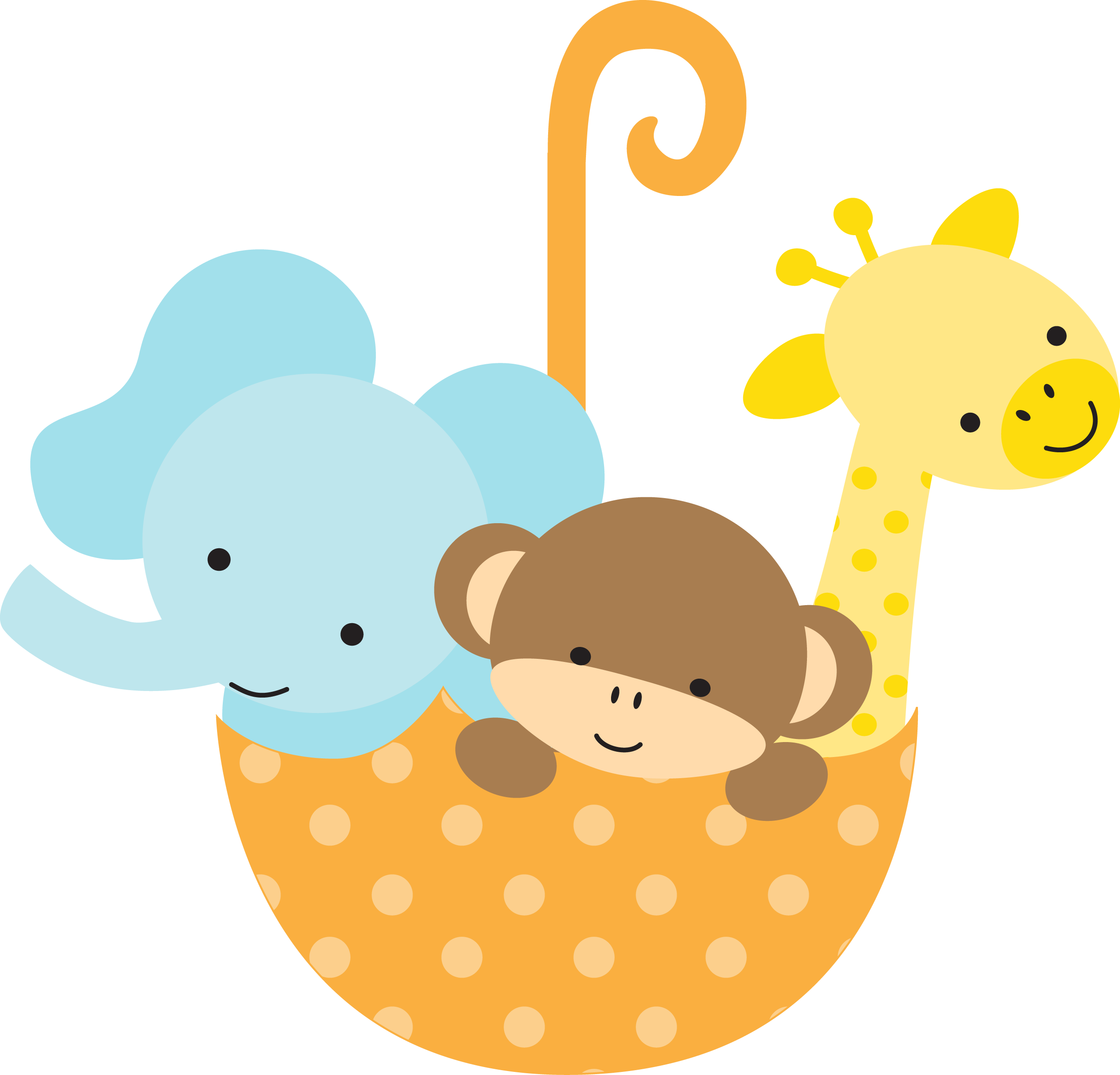 Jungle animals infant diaper. Clipart tree baby shower