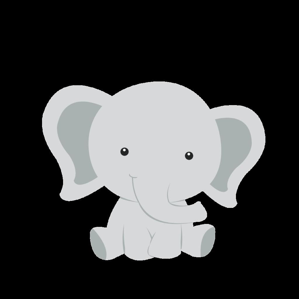 Infant baby shower elephant. Diaper clipart donut