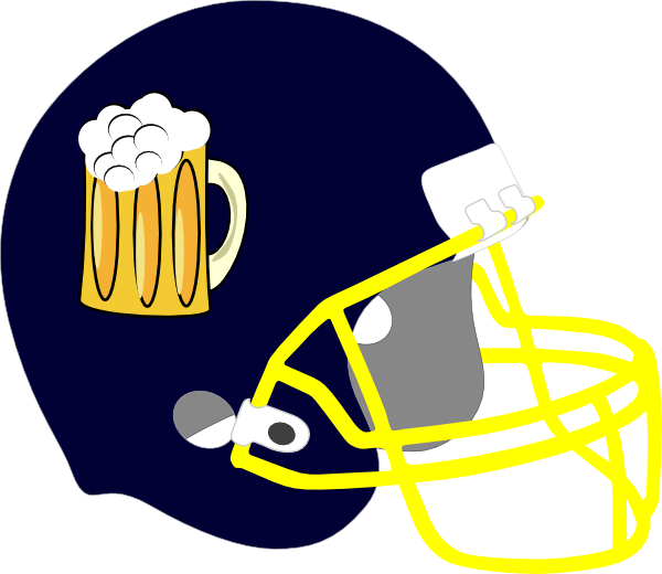 Helmet clip art at. Clipart football beer