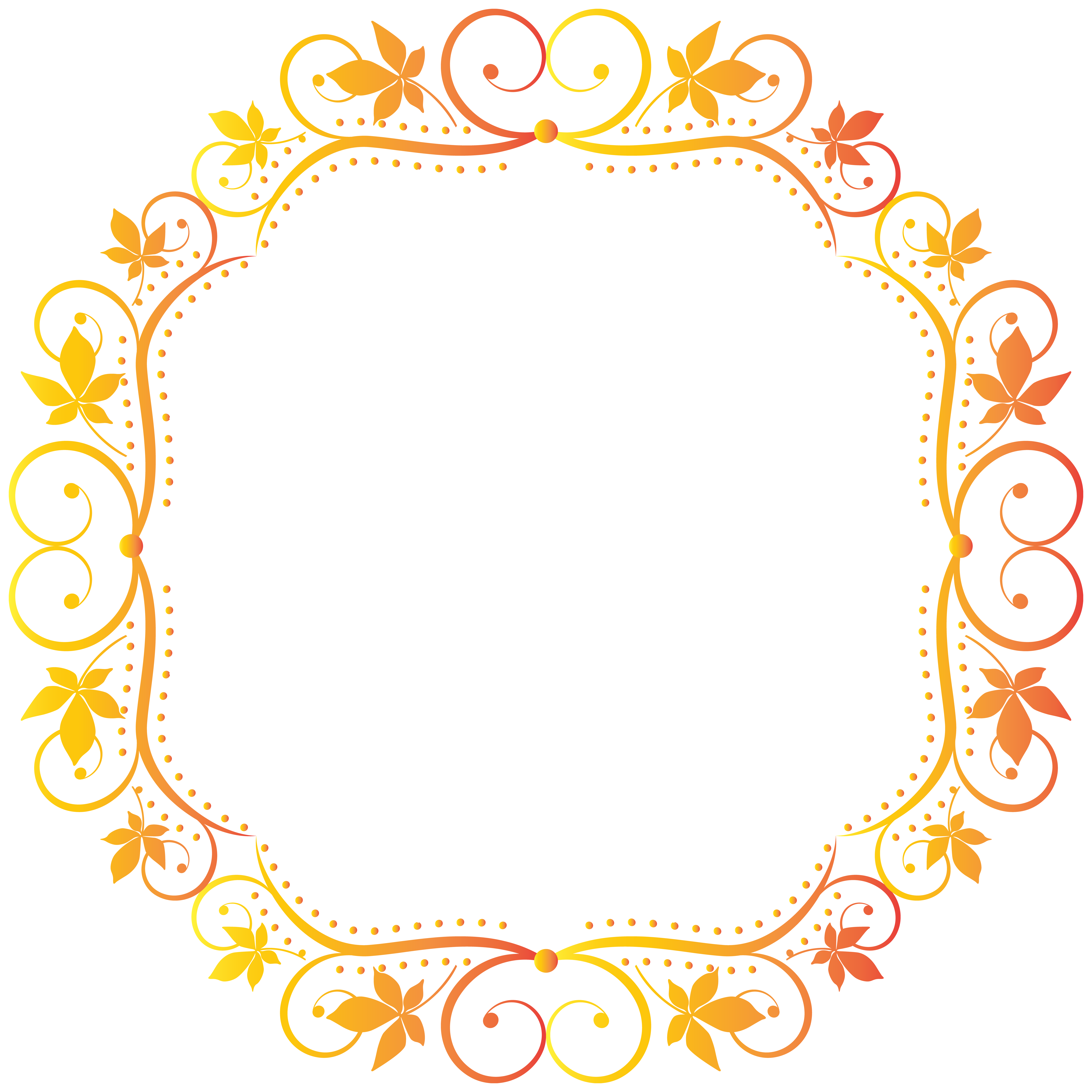 Frame transparent clip art. Fall border png