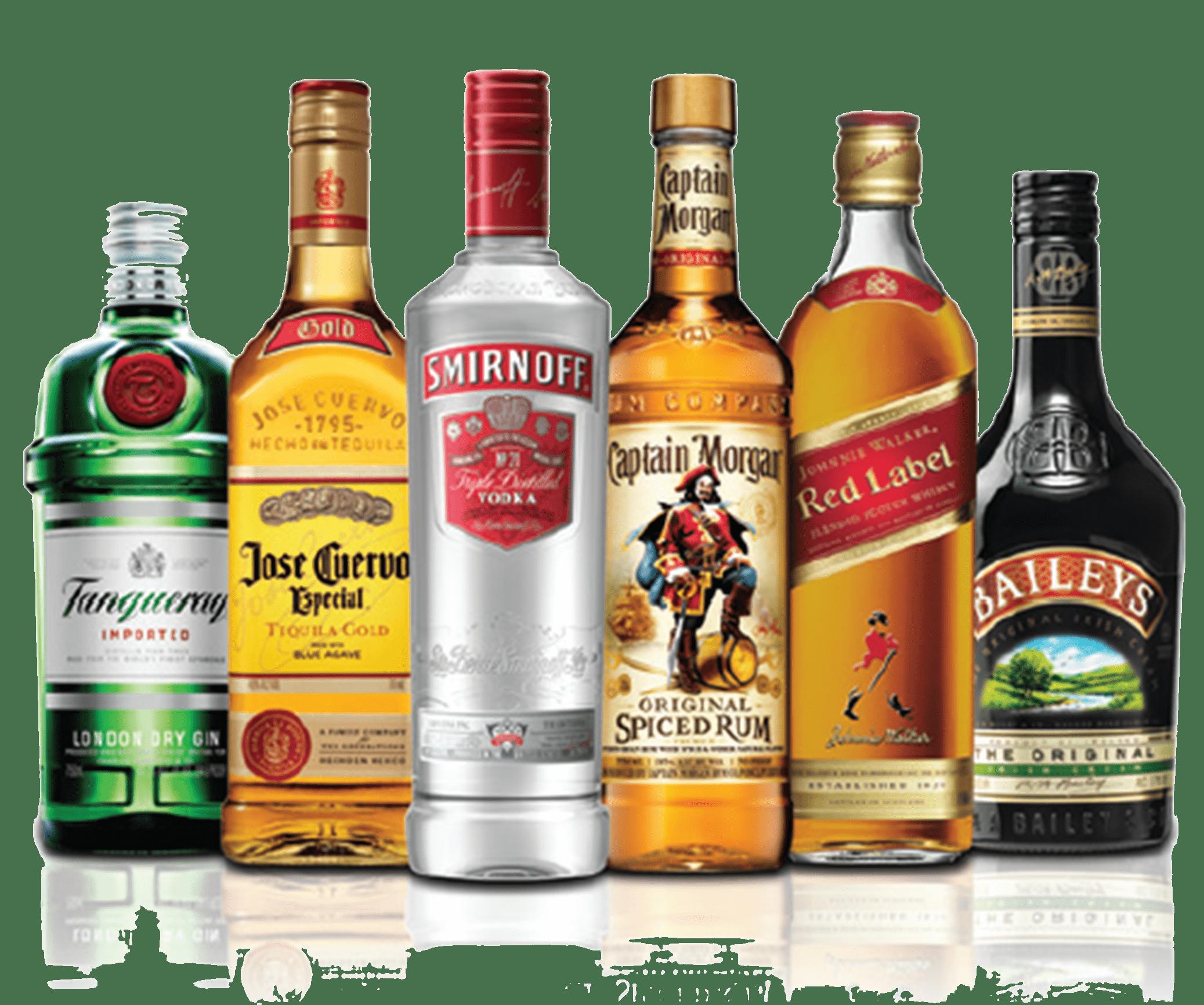 Liquor bottle png. Alcohol bottles transparent stickpng