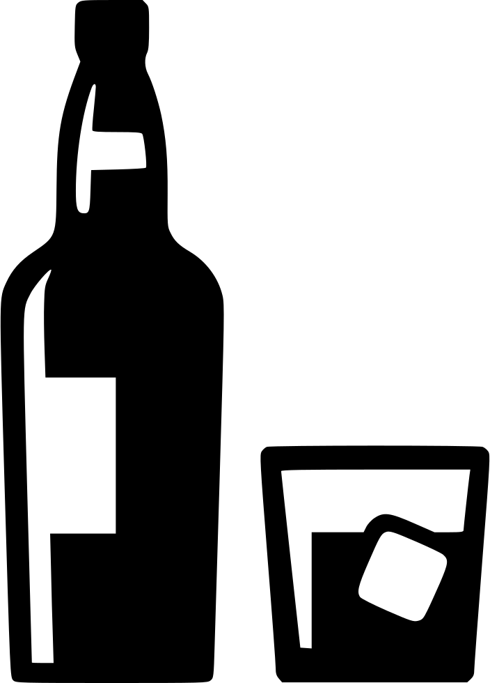 Bottle silhouette at getdrawings. Glass clipart whiskey