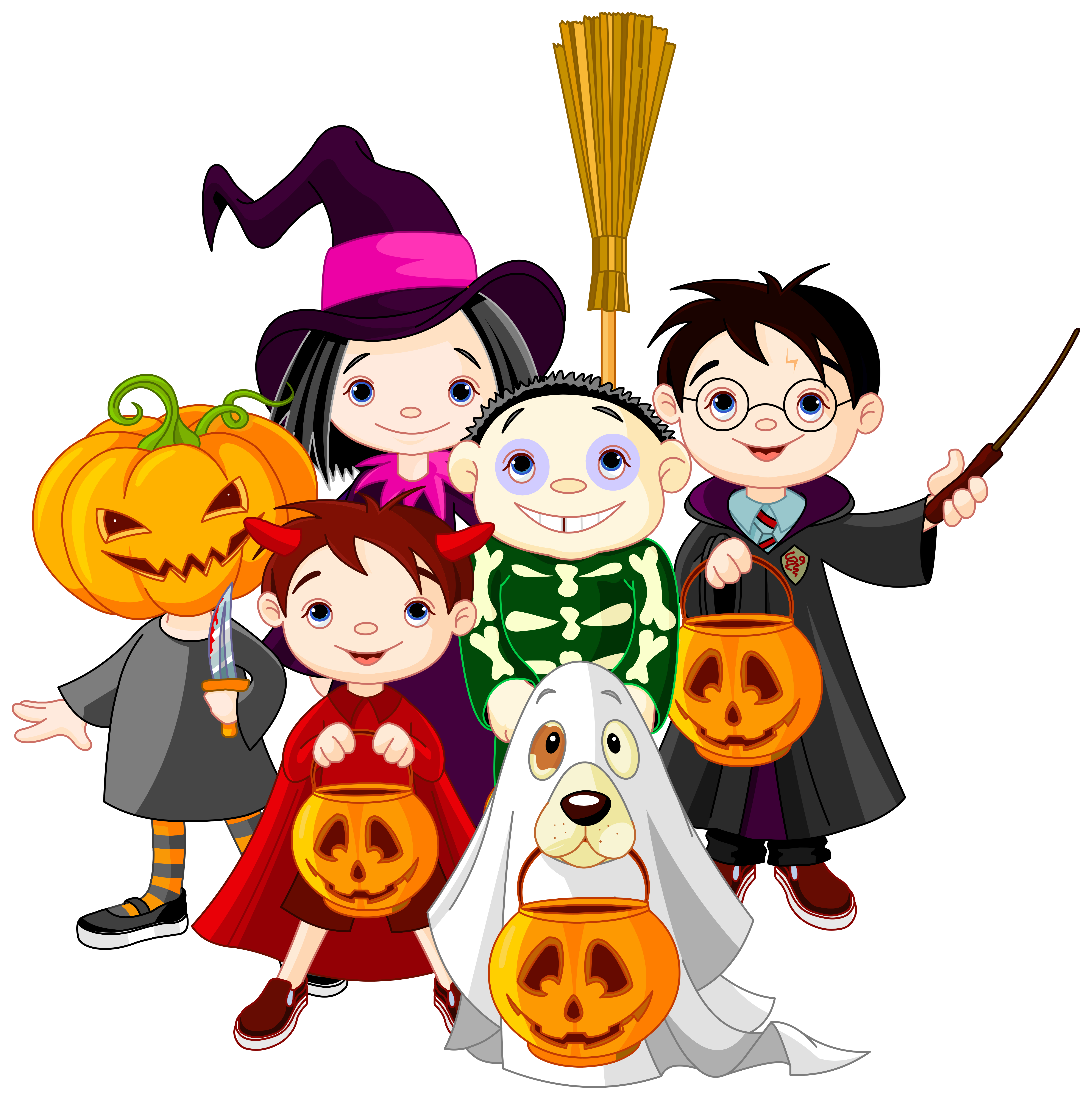 Halloween kids png clip. Witch clipart childrens