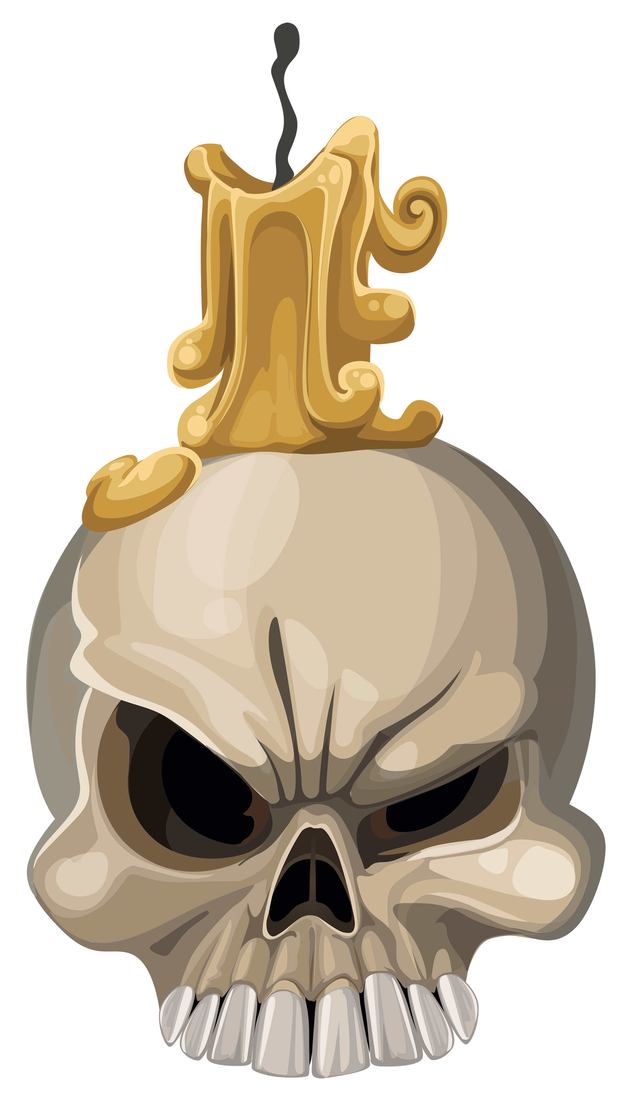 Halloween with candle png. Clipart rock skull