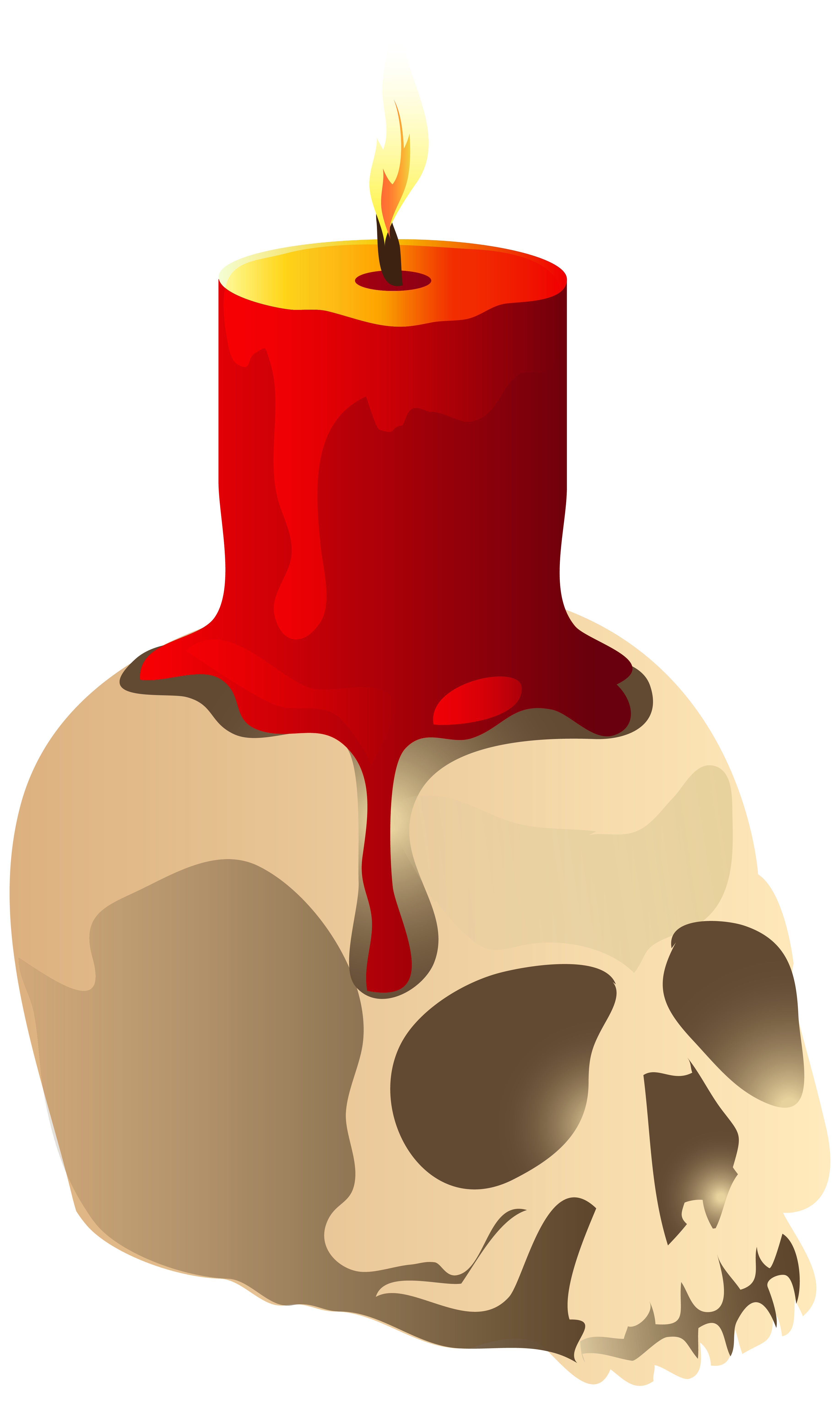 Clipart png candle. Halloween skull image gallery
