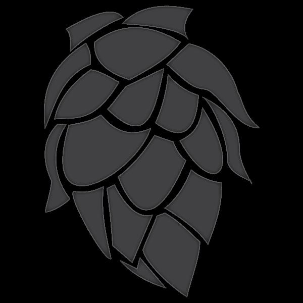 Amarillo whole leaf hop. Hops clipart beer logo