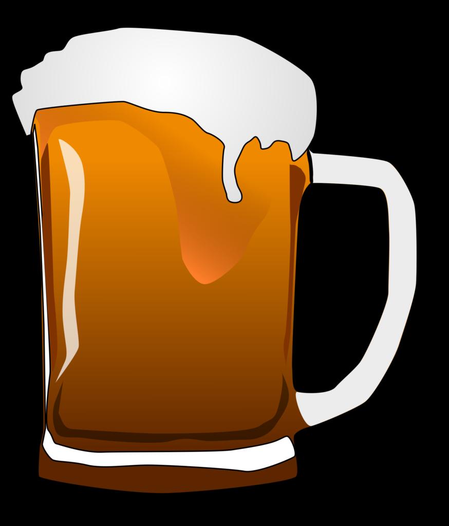 Root glasses bottle clip. Clipart beer jar