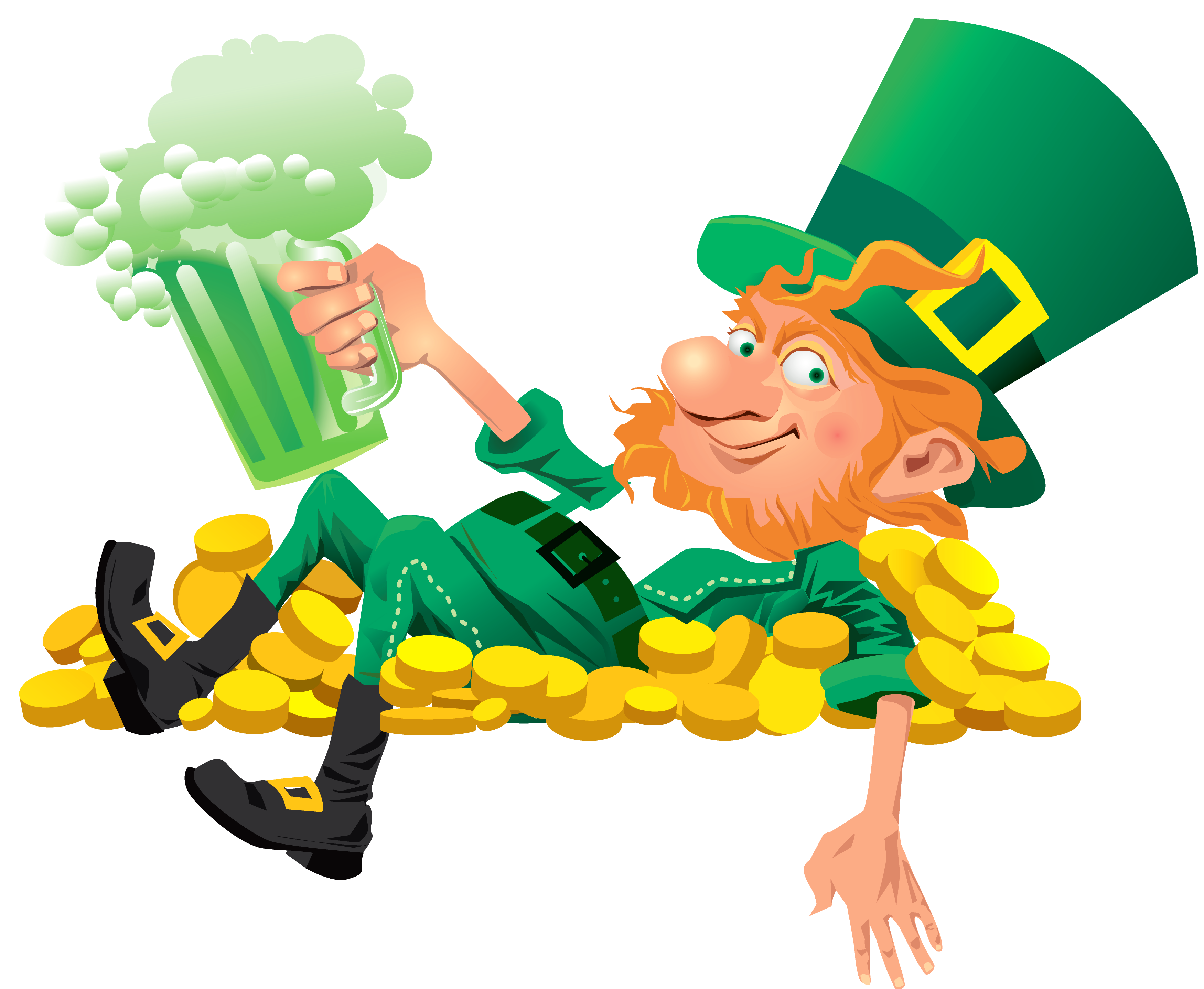 Leprechaun clipart famous. St patricks day thoughts