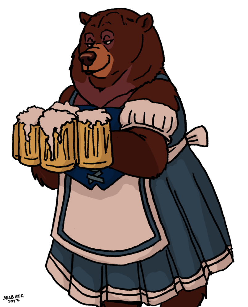 Maid clipart beer. Bear by shabazik on