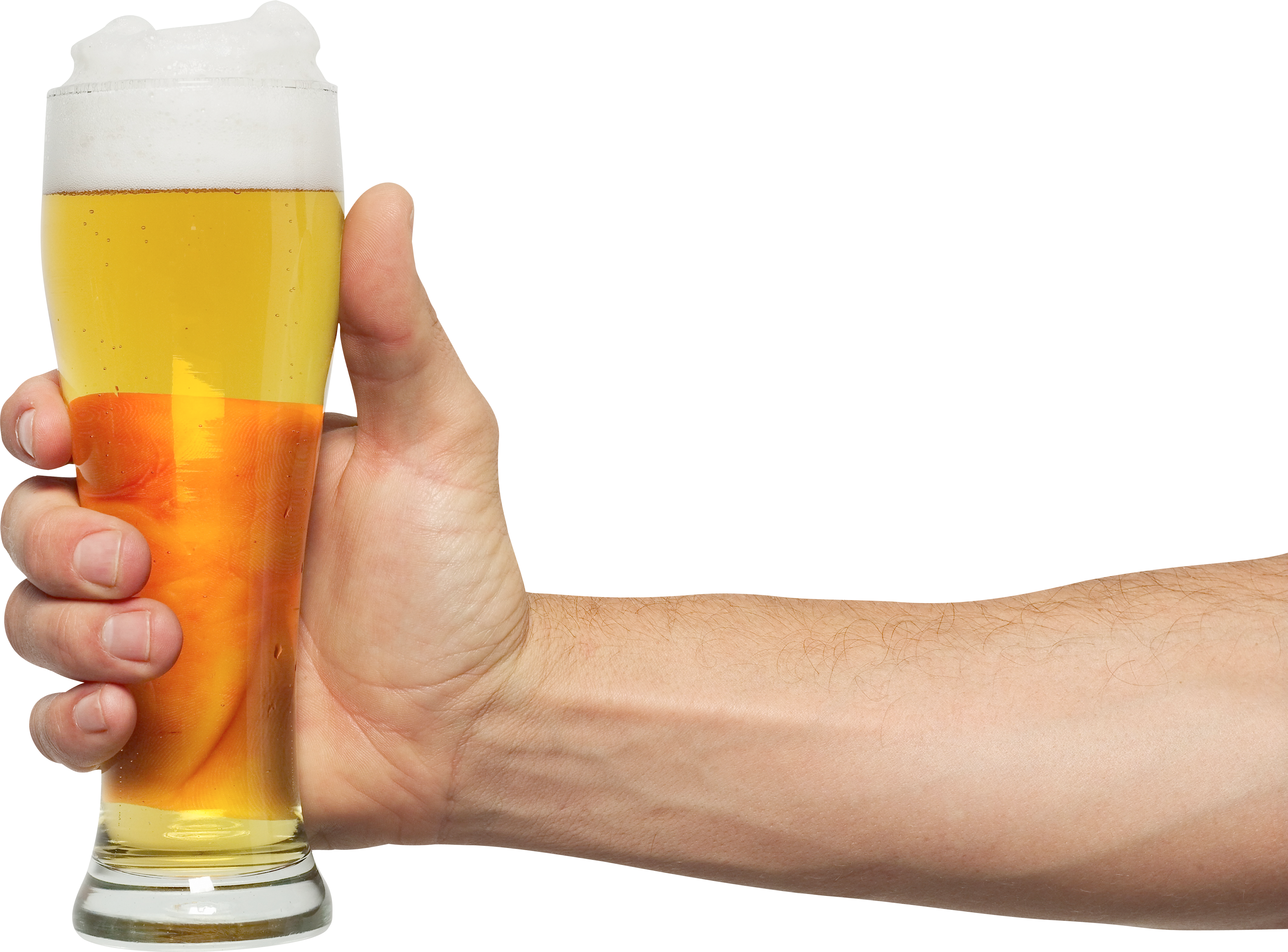Glass of beer two. Drink clipart hand holding