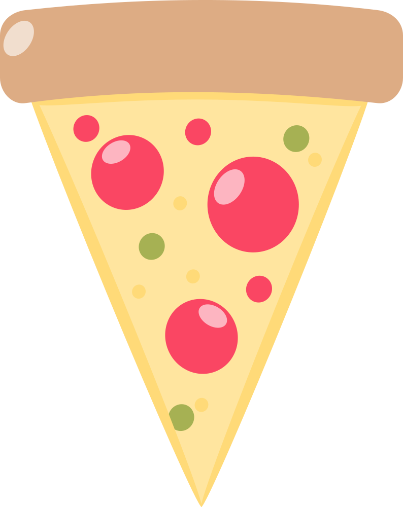 Pizza clipart sliced pizza. Onlinelabels clip art slice