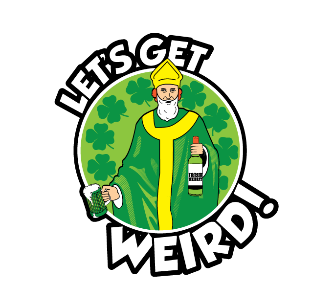 Lets get weird drinking. Clipart beer pub crawl