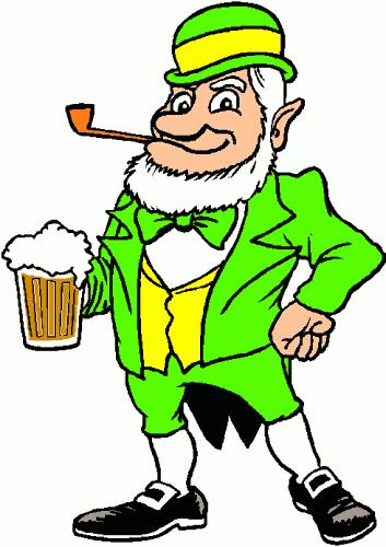 Leprechaun clipart pipe. Free beer public domain