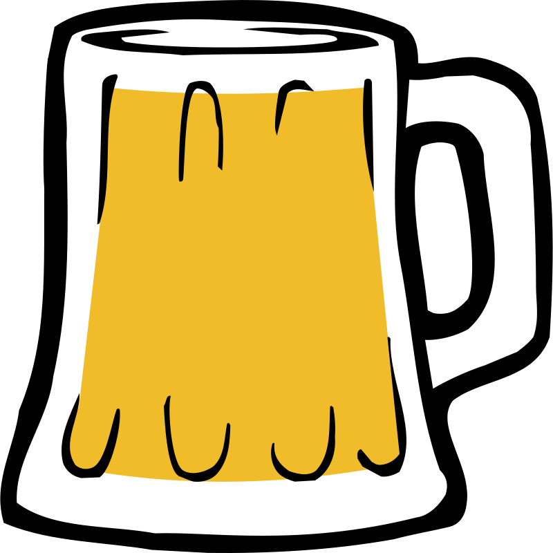 Cartoon beer mug free. Glasses clipart pint glass