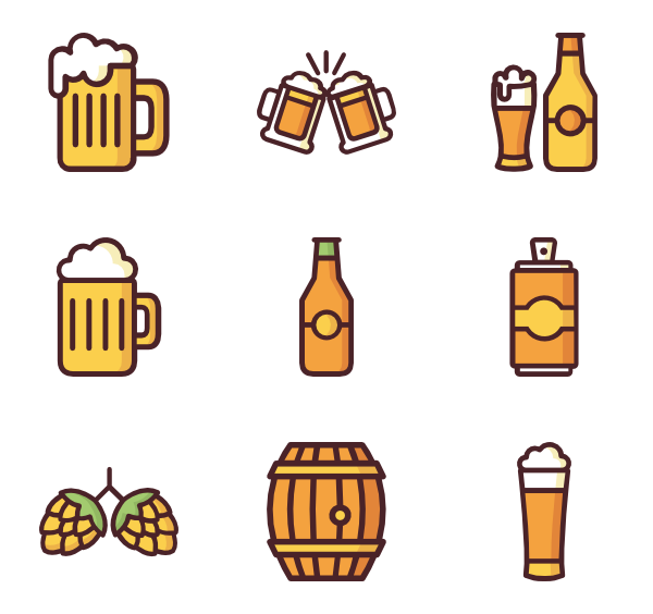 beer icon packs. Cup clipart vector