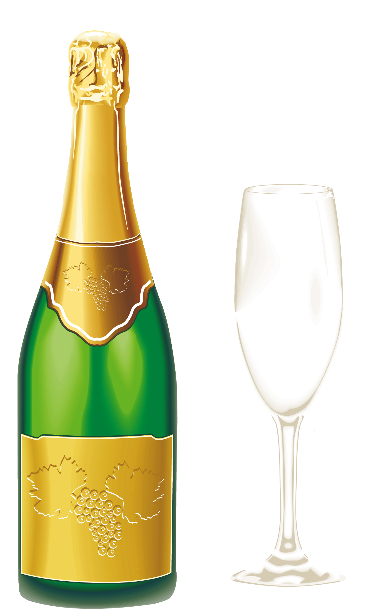 Champagne with glass png. Cocktails clipart group
