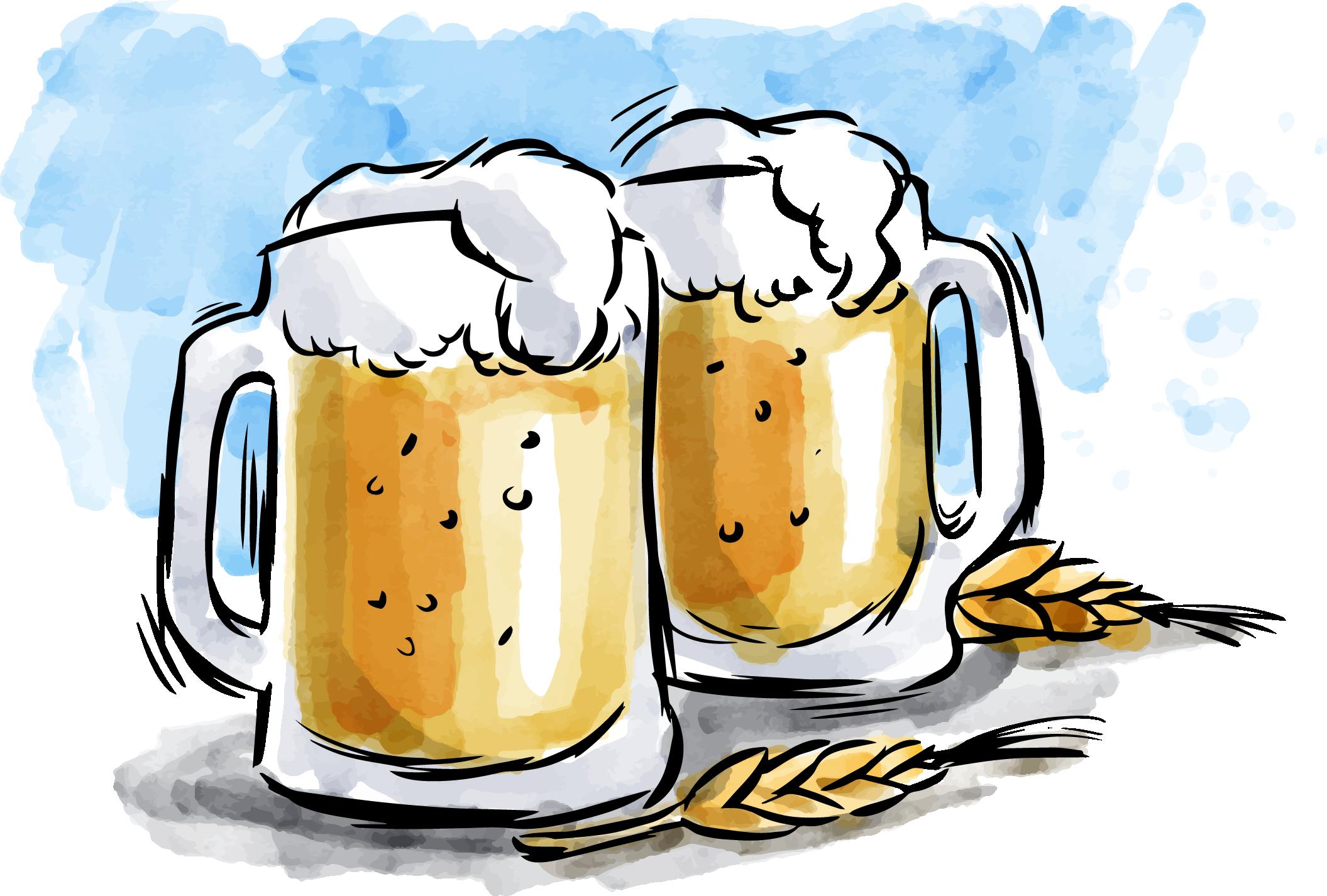 Beer watercolor